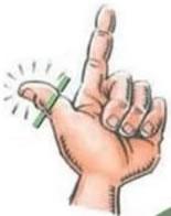 ponta do polegar