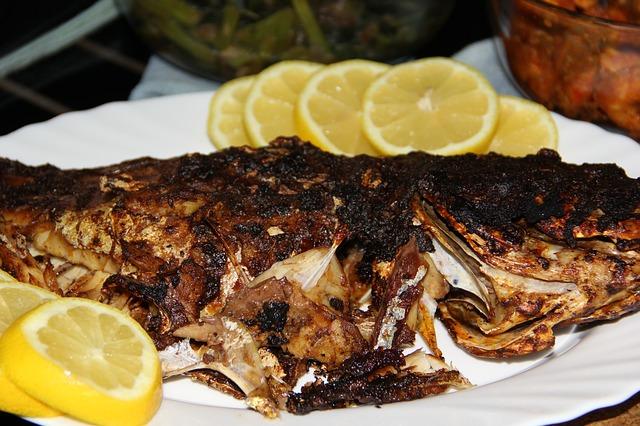 peixe queimado