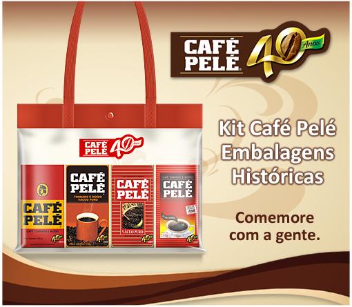 Kit Café Pelé Embalagens Históricas