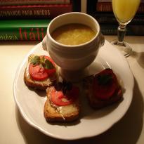 Receita de creme franc s de batata e alho por tereza da for Frances culinario