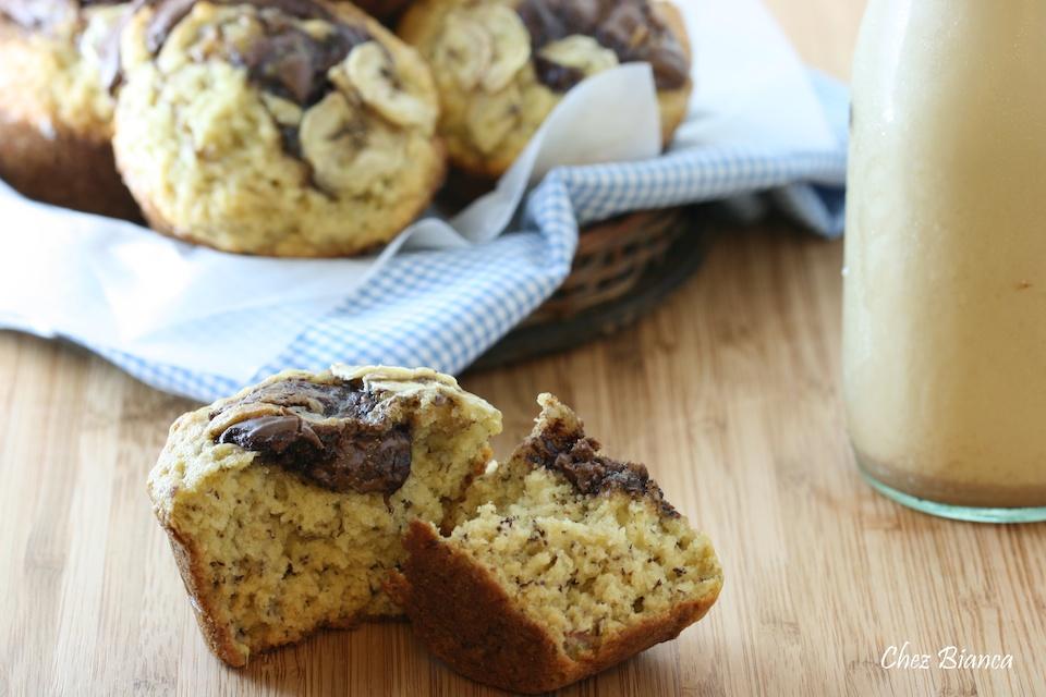 Receita de Muffin de banana com Nutella - Lucia - Almanaque Culinário